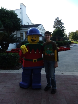 Andrew with the Lego Christmas Man