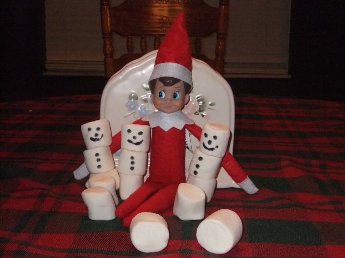 Making Marshmallow Snowmen